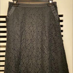 NWOT Isaac Mizrahi black lace skirt